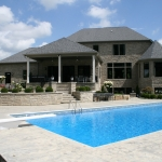 custom home outdoor living pool hudson, ohio