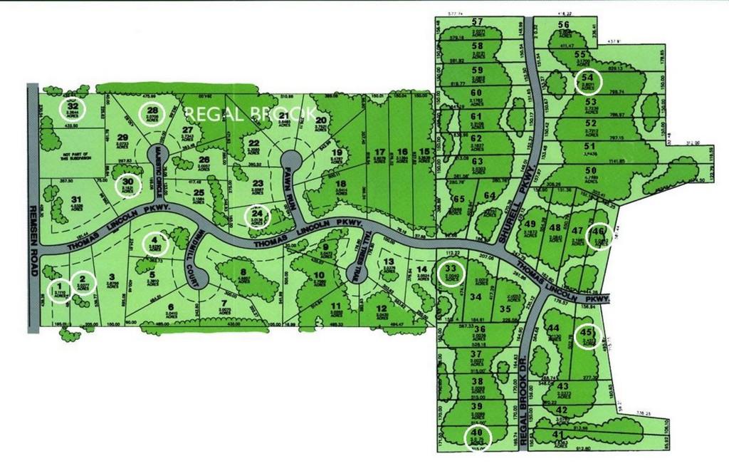Regal Brook Development Map