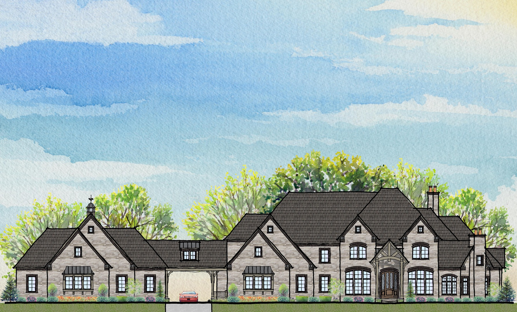 Sprawling New Custom Two Story Design Prestige Homes